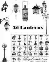 Old lanterns Brush Set by Lileya