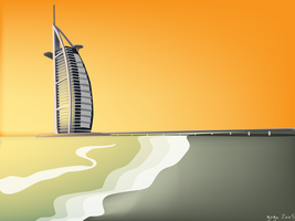 burj al arab sunset by arturog