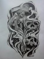 half sleeve tattoo design by karlinoboy