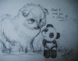 PomPom and Panda by MelodicInterval