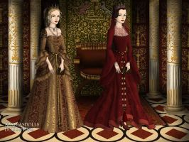 Princess Andreea Gabriela and her aunt Ana Maria by pispispis