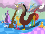 ==Discord VS the Mane 6== Digitalized By Me by EverLightHelios