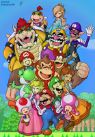 Mario Family by doctorWalui