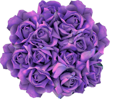 Halloween roses PNG by oxygun