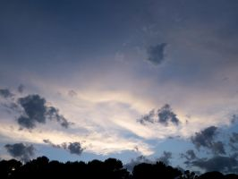 Black and white clouds by Altair-E-Stock