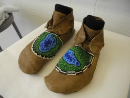 Beaded Moccasins by IBRich