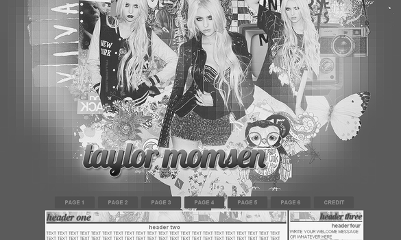Taylor Momsen Layout by FallennHalo