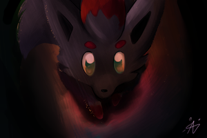 Zorua by Chocolateblob