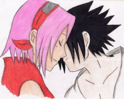 Sasuke and Sakura by LetItAllBleedOut