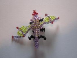 Beaded dragon by Chrissijulius