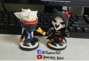 overwatch Reaper soldier76 clay art by flowerrain1612