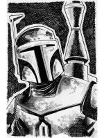 Sketch 095 of 100 BOBA FETT by misfitcorner