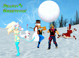 Season's Greetings from Capcom Frozen by NekoHybrid