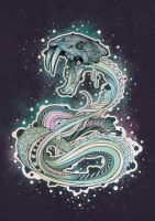 Saber-toothed Serpent in Space by Gfield