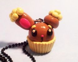 Buneary Cupcake Necklace by MaryBunnie