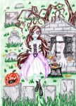 Trick or Treat at the Cemetary by IsisConstantine