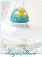 Rubber Ducky dome ring by SugarRoxx