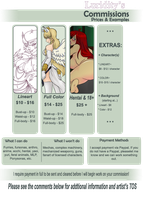 Luridity's Commission Information by Luridity