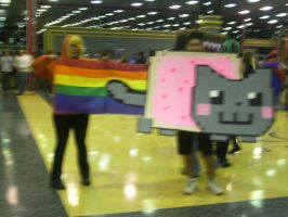 Kenny and Nyan Cat by sam-the-vampire