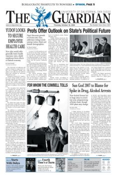 UCSD Guardian frontpage 2008 by unknowninspiration