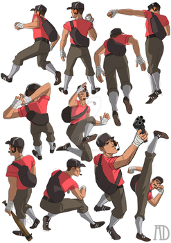 Scout Drawing Practice by protowilson