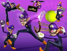 Waluigi wallpaper 4 by ShadowWaluigi1826