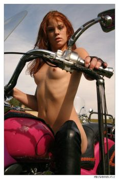 Biker girl 4 by jerrywhite