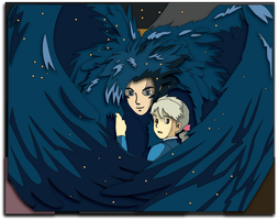 Commission: Howl's Moving Castle Wings Mock-up by The-Paper-Pony