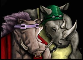 Bebop and Rocksteady by HeroforPain