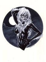 Black Cat bust by ChristopherStevens