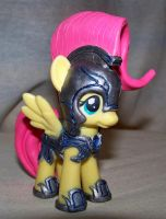 Fluttershy in Crystal Empire Jousting Armor#2 by batosan