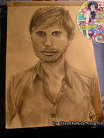 Enrique Iglesias Drawing 1 by GiraffeAndy