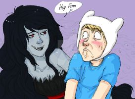 Marceline and Finn by Bonka-chan
