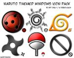 Naruto Themed Windows Icons by sadrithmora