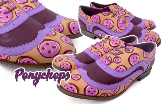 Purple Button Brogues by ponychops