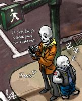 Undertale Streetcorner by jameson9101322