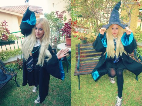 Luna Lovegood poses cosplay by MissWeirdCat