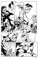 Inks - Avenging Spider-Man by Joe Madureira by adr-ben