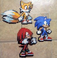 Team Sonic: Beaded by TomatoisJPhansburg
