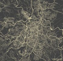 Jerusalem by MapMapMaps
