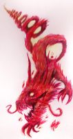 .: -Dragon - Red Marker and Coffee- :. by PrideAlchemist7