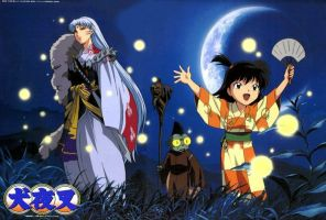 Sesshomaru and Rin and Jaken by shadowgirl221