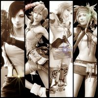 Final Fantasy Girls by DarkMagicianQueen