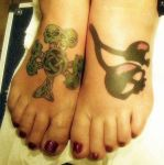 Dee's feet tattoos by artgecko