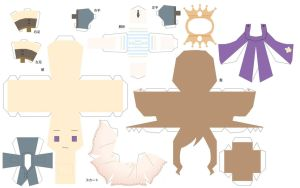 Hetalia Papercraft- Fem France by Dj-Mewmew