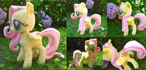 Fluttershy Plush Deluxe by dolphinwing