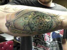 Portion of a tattoo sleeve. by jeffroberts