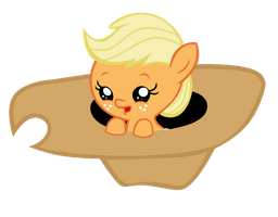 Baby Applejack in Hat by Bronyboy