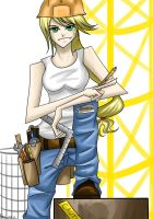 Commission: Applejack is best construction worker by Tao-mell