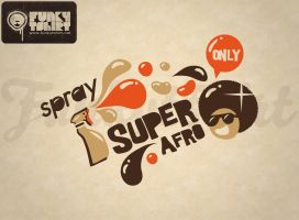 Spray super afro by Funkytshirt